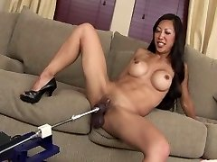 SEXY FIT ASIAN MILF TIA Porks Fuck Stick MACHINE ROBOT