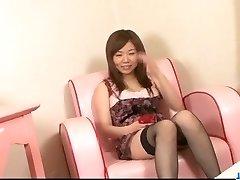 Fleshy maid, Aoi Mizumori, sates two tasty cocks