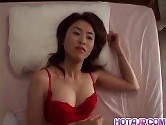 Delicious mammories brunette Jyuri Yoshino gets her nipples lick
