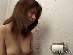 Toilet Voyeurism in Bathroom and Intense Pawing Fetish Play