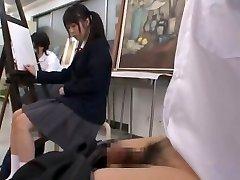 Exotic Japanese biotch Arisa Nakano, Satomi Kirihara, Nozomi Aiuchi in Wild College JAV video