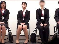 Incredible Asian girl Minami Kashii, Sena Kojima, Riina Yoshimi in Hottest audition, office JAV scene