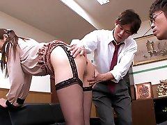 Fabulous Japanese whore Hina Akiyoshi in Finest JAV censored Office, Phat Tits video