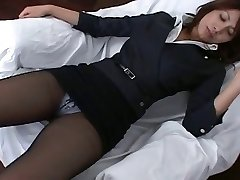 Pantyhose Asian Office Doll Teasre
