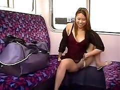 PEEING IN A Train