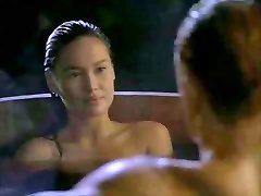 Asian Tia Carrere heads for Dolph Lundgrens Big Towheaded Cock