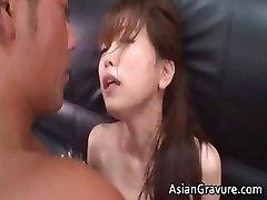 Hot and fabulous asian secretary blows rigid partFour