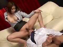 Amazing Japanese fuckslut in Exotic Secretary, Massage JAV clip