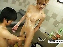 Japanese newhalf shemale soapland with nasty sixtynine