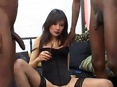 Russian Call Girl Lyuba B smoking cigar with Bbc