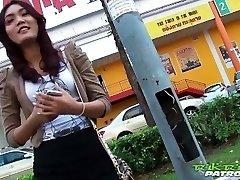 Sexy Thai lady eager for big white knob