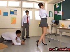 Kaori Hot Japanese educator getting