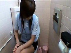 Office Gals Getting Into Toilet Masturbation