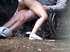 Crazy Chinese nurse sucks cock in front of a voyeur