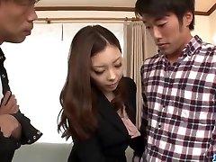 Rough office hard-core trio with hot Maki Mizusawa