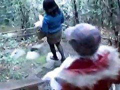Breasty Asian sluts porking a lucky fellow
