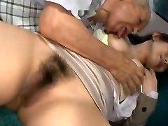 Asian Grandpa having fun with young girls part 1