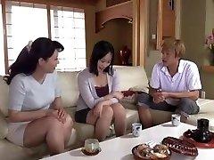 Japanese mom seduces daughter-in-law's boyfriend