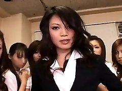 Asian Babe in Group bang-out
