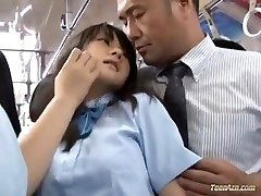 School girl pounded in bus