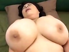 Japanese Mature with gigantic tits