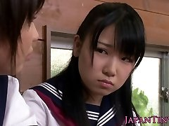 Tiny CFNM Japanese college girl love sharing cock