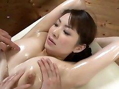 Killer Japanese model Yuna Aino in Horny Threesome, Massage JAV scene