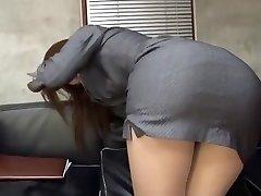 Incredible Japanese fuckslut Riko Miyase in Finest Stocking/Pansuto, Office JAV video