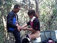 Asian street hooker fuckt in the woods