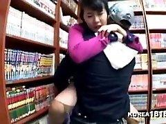 naughty Koreans fucking at the comic book shop