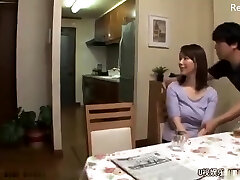 Chinese mom get fucked after husband leaves for work