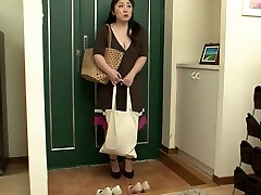 Horny Japanese chick in Amazing Lezzy, Mature JAV video