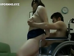 Chubby Chinese Mom Satisfy Handicapped Son lust