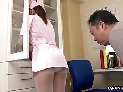 The tension enhanced because of Japanese pretty young nurse Anna Kimijima