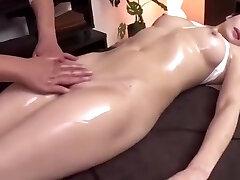 Hot Japanese Dame Gets Fingered during Message