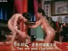 Classic Catfights-Nude Grease Wrestling