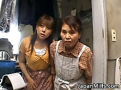 Horny japanese MILFS sucking and banging