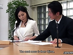 Sloppy bang-out in the office is everything lustful Asian chick Miyuki Ojima needs everyday