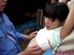 Lil' japanese outdoors fingered