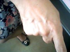 asian female doctor checks (hidden webcam)