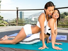Yoga with two sweeties