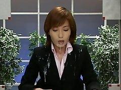 Japan News with Cum Shots. Scene 2