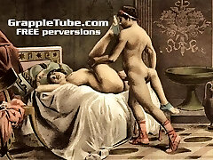 Vintage retro old-school hardcore fucking and oral hardcore sex perversions