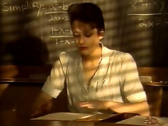 Short haired kinky dark haired college professor fellates strong cock for cum