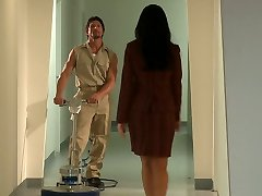 Office tart India Summer gets wild for sexy janitor