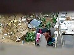 Aunty Bathing Nude In Outdoor Her Man Helping Captured2