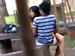 Indian College Schoolgirls Fucking in public park Voyeur Recorded by people