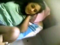 Breasty desi indian angel home hook-up flick