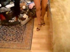 Me trying fresh heels