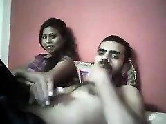 Indian mega-bitch double blowjob